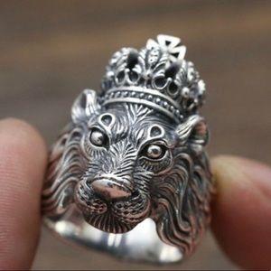 Men's lion ring biker Ring